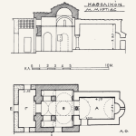 Κάτοψη και τομή κατά το αρχιτεκτονικό σχέδιο του Ορλάνδου.