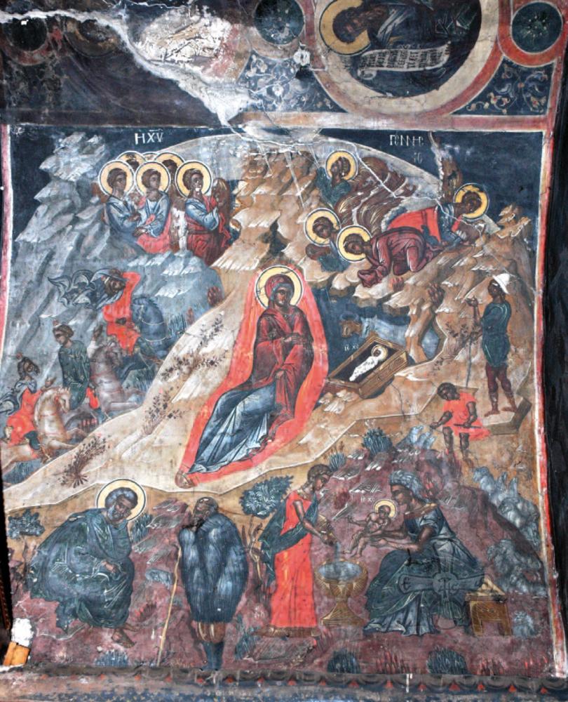 Η Γέννηση του Χριστού (1539) από τον κυρίως Ναό.