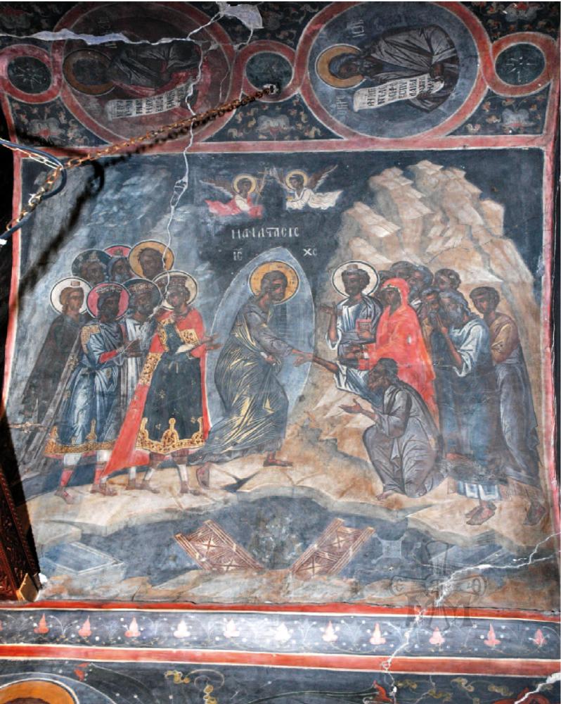 Η Ανάσταση του Χριστού (1539) από τον κυρίως Ναό.