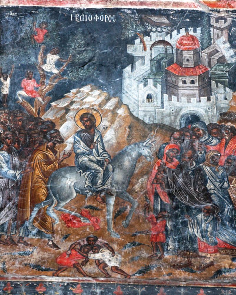 Η Βαϊοφόρος (1539) από τον κυρίως Ναό.
