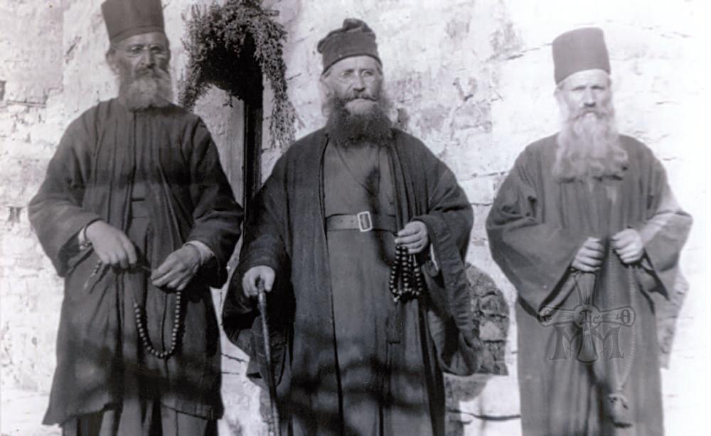 Η μοναστική αδελφότητα το έτος 1923.