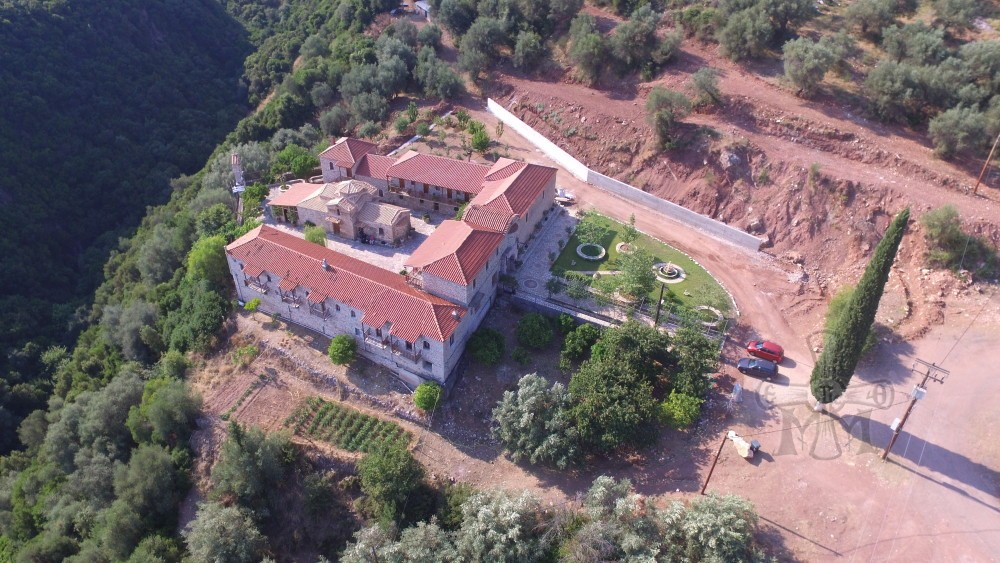 Πανοραμική άποψη του κτιριακού συγκροτήματος της Ιεράς  Μονής. (Φωτογραφία 2016)
