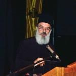 Ο αιδεσιμολογιώτατος πρωτοπρ. Βασίλειος Καλλιακμάνης, κεντρικός ομιλητής της Α' Συνεδρίας