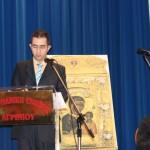 Ο συντονιστής της καταληκτήριας συνεδρίας, Θεολόγος κ. Λεωνίδας Γαρουφαλής