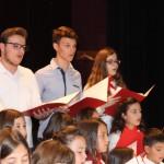 Η παιδική χορωδία του Ιερού Ναού Αγίου Χριστοφόρου Αγρινίου, υπό την διεύθυνση του κ. Παναγιώτη Μήτσου