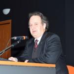 Ο συντονιστής της δεύτερης ημέρας κ. Φώτιος Μάλαινος, θεολόγος, φιλόλογος, τέως λυκειάρχης