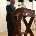 Ο Πρόεδρος του Εκπολιτιστικού Συλλόγου Θέρμου κ. Γεώργιος Σαγώνας